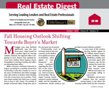 Fall Housing Outlook Shifting Towards Buyer's Market