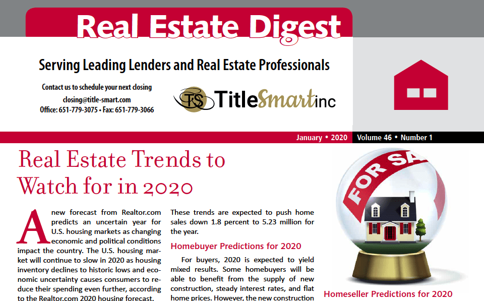 Real Estate Trends To Watch For In 2020
