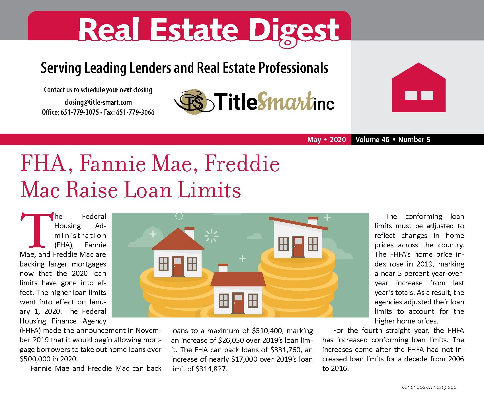 FHA, Fannie Mae, Freddie Mac Raise Loan Limits